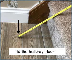 to the hallway floor